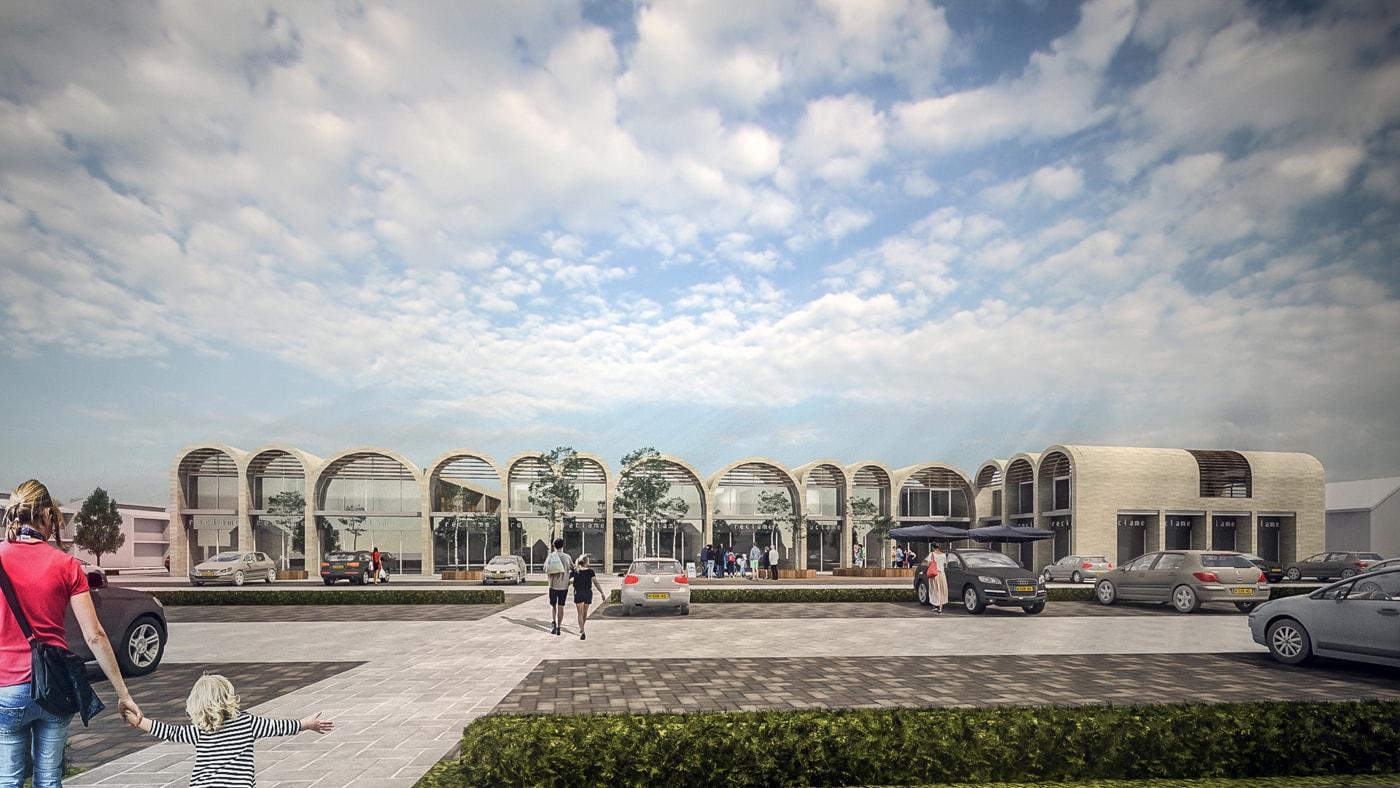 commercial shopping center Teteringen JMW architects